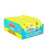 MastroLindoSalviette Igienizzanti Multisuperficie, 192 Pezzi (8 x 24 Salviettine), Limone, Per...