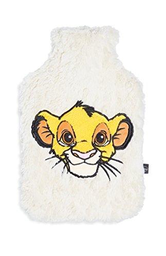 Rey León botella de agua caliente con funda suave y acogedor