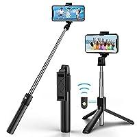 【3-in-1 Selfie-Stick Stativ】 CHENMEI Selfiestick mit abnehmbaren Auslöser. Sie können den Stick entweder als regulären Selfie Stick verwenden, oder den wireless Auslöser abnehmen und als Dreibeinstativ mit Fernauslöser verwenden. Entweder ein Kamera-...