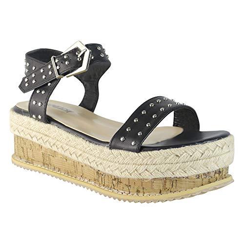 BeMeesh Alpargata Mujer Atada con Plataforma Sandalias de Verano (Ropa)