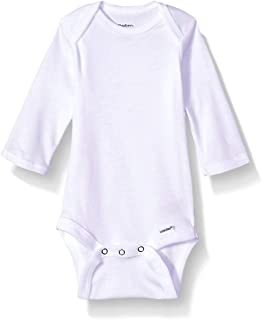 GERBER Baby Girls' 5-Pack Organic Long-Sleeve Onesies Bodysuit