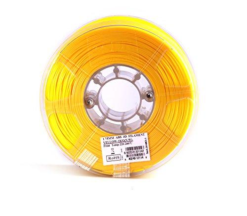 eSUN 1.75mm Yellow ABS 3D Printer Filament 1kg Spool (2.2lbs), Yellow