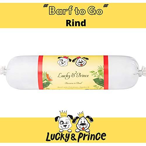 Lucky & Prince Hundewurst feines Rind (1 x 400g) mit Kartoffel, Apfel, Hüttenkäse. 100% Hochqualität Single Protein Menü aus Fleisch und Gemüse. (1 x 400g)