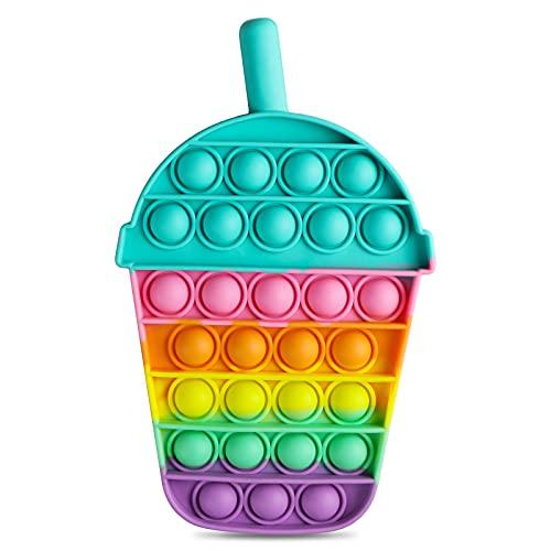 Coolden スクイーズ玩具フィジェットおもちゃ プッシュポップポップ バブル感覚 減圧グッズ ストレス解消 洗える可能 家族 子供用 カップ