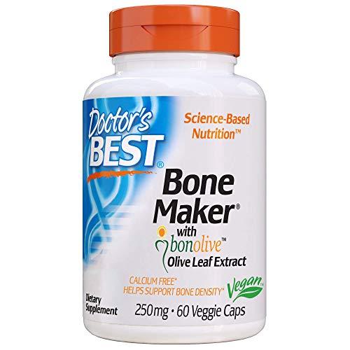 Doctor's Best Bone Maker with Bonolive, Non-GMO, Vegan, Gluten Free, Soy Free, Helps Increase Bone Density, 250 mg, 60 Veggie Caps