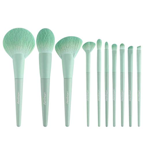Pinceau de maquillage GCX- 10 pièces Ensemble Complet Ensemble de Poudre Blush réparation Outil de Stockage Tube Beau