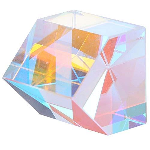 Optisch glazen prisma, Akozon Optische glazen lens Piramidevorm Gekleurd prisma voor fysica en onderzoek Decoratie(Maat 1)