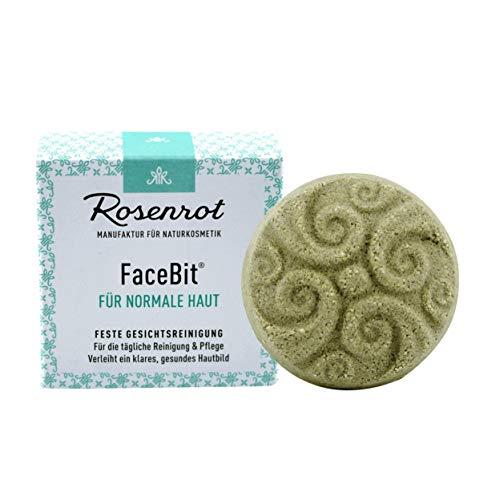 Rosenrot Naturkosmetik - FaceBit® - festes Waschgel Gesichtsreinigung - Für die tägliche Reinigung & Pflege - Verleiht ein klares, gesundes Hautbild - Für normale Haut