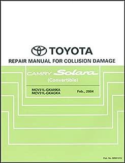 2004-2008 Toyota Camry Solara Body Collision Repair Shop Manual Original