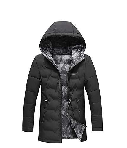 Double-Sided Camouflage Jacke, Outdoor dick warm down Jacket, coud Parka 2XL navyblue