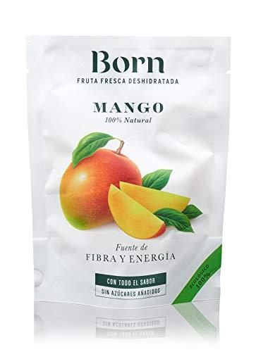 Born Mango - Fruta Deshidratada Ecológica - Vegetariano, Vegano, Paleo, sin Gluten, sin Lactosa, sin Azúcar Refinado - Doy Pack 40 G