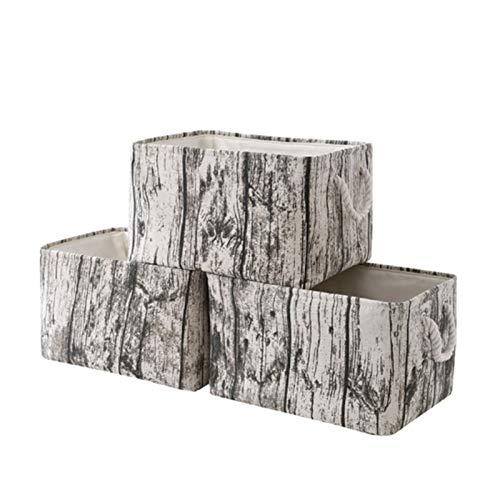 HOMEsn Caja De Almacenamiento Plegable para El Hogar Textura De Árbol, Algodón Y Ropa De Almacenamiento Portátil para Almacenar Ropa, Zapatos, Edredones, Juguetes, Libros