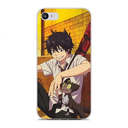 Mosku Ultra Thin Clear Soft Rubber Protect Case Cover for Apple iPhone 6 Plus/6s Plus, Blue Exorcist-Rin Okumura 10