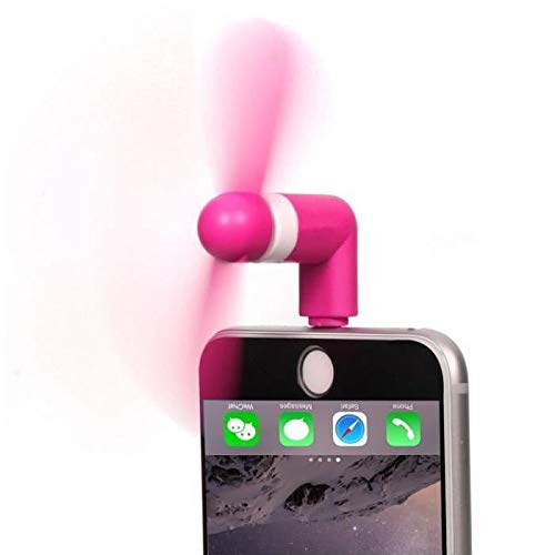 Shot Case Mini Ventilador para iPhone 11 Lightning silencioso Apple Rafraichie (Rosa)
