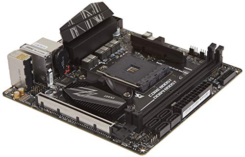 MSI Performance Gaming AMD Ryzen 1st, 2nd, and 3rd Gen AM4 M.2 USB 3 DDR4 HDMI Display Port Mini-ITX Motherboard (B450I Gaming Plus MAX WiFi)