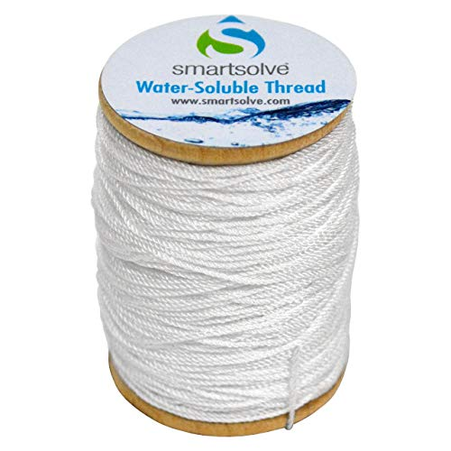 SmartSolve Water-Soluble Thread, 0.5mm x 75yd Spool, White (Office Product)