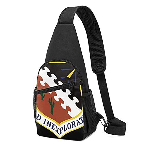 DJNGN Air Force Flight Test Center Sling Bag Crossbody Viaje Senderismo Pecho Mochila