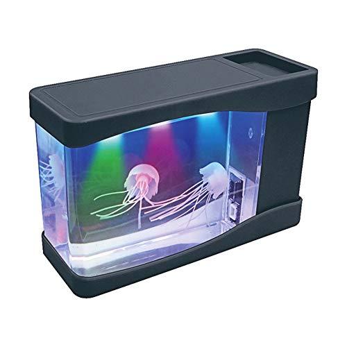 Medusas Lámpara Eléctrica, Mini pecera de acuario con batería artificial, Lámpara de...