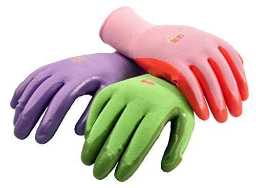 6 Pairs Women Gardening Gloves with Micro-Foam Coating – Garden Gloves Texture Grip – Working Gloves For Weeding, Digging, Raking and Pruning, Medium, Assorted color