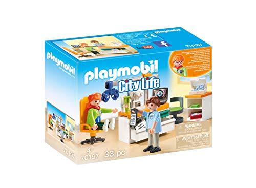 PLAYMOBIL- City Life Oftalmólogo, Multicolor, talla única (70197)