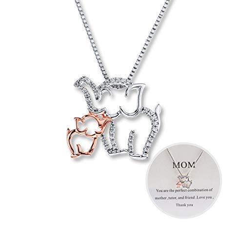 Mother and Child Elephant Necklace Mom Necklace 2 Elephant...