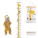 Outivity Baby Growth Height Chart, Hanging Ruler Wall Decals for Kids Boys Girls, Canvas and Wood Removable Measure Wall Ruler for Children