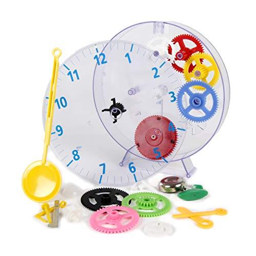 Technoline Quarzwecker Modell Kids Clock, mechanische Kinderuhr zum Basteln und Lernen, bunt, mit Anleitung