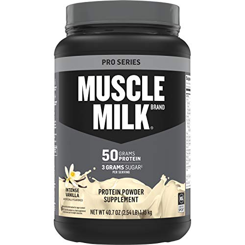 Muscle Milk Pro Series Protein Powder, Intense Vanilla, 50g Protein, 2.54 Pound, 14 Servings