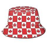 LinUpdate-Store Bucket Hat Hombres Mujeres Bucket Hat Fisherman Cap Packable Outdoor Wide Brim Visor Sun Hat Canadian Flag