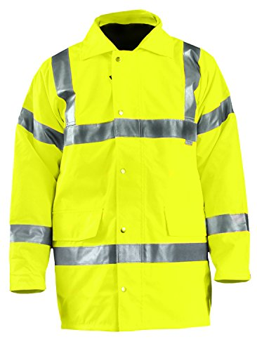 OccuNomix LUX-TJFS-YL Premium Five-Way (5-in-1) Parka Jacket, Class 3, 100% ANSI Polyester, Yellow, Large
