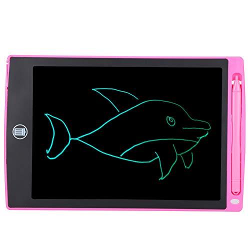 Tablero de escritura LCD, colorida batería eléctrica de gran capacidad Tableta de escritura LCD de alto contraste, color rosa para dibujar en el aula