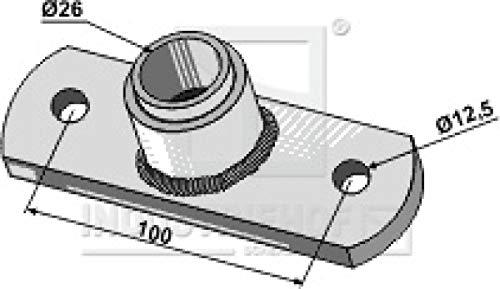 312-25-HI Lagerflansch mit eingepreßte Buchse - Ø26