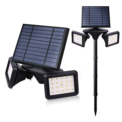 Outdoor Solar Light, Motion Sensor Security LED Light Dusk to Dawn Wireless, 2-in-1 Solar Powered Landscape Spot Lights Waterproof for Yard Driveway Lighting, Egreat (Black, Solar Flood Light)