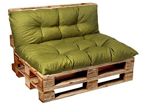 Garden factory Coussins pour Canape Euro Palette, Assise, Dossier, Set, extérieur intérieur Coussin accoudoir 60x50