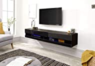 High Gloss Wall Mounted TV Units with LED Lights. Choice of Size: 120cm or 180cm - Choice of Colour: Black, Grey or White Designed to accommodate essential AV equipment, complete with cool LED downlight and open slot feature. Dimensions: Height: 30cm...