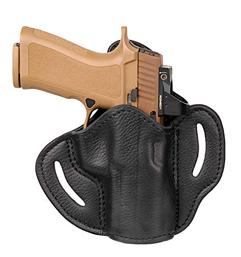 1791 GUNLEATHER Ultra Custom Leather Holster for Sig P320c, HK 45c VP9 VP40, Springfield XDMc, CZ P01 P10, Walther PPX PPQ Pistols - OWB CCW Holster - Memory Lock Right Handed Leather Gun Holster