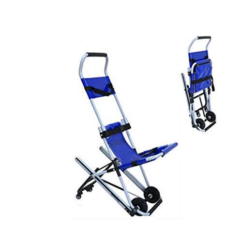 AA-SS Silla de Escalera JXSD Aluminio Peso Ligero Ambulancia Medical Lift, Silla de evacuación de Escalera Plegable, Paramédico Transporte de Pacientes Evacuación de 4 Ruedas