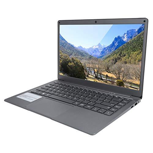 Ordenador Portátil de 13,3 Pulgadas, Portátil Ultrafino para Windows 10 Home, HD 1920x1080, Procesador Intel de Doble Núcleo, RAM 4GB, ROM 64GB, HDMI, Cámara Web, WiFi, Bluetooth (100‑240V)(EU)