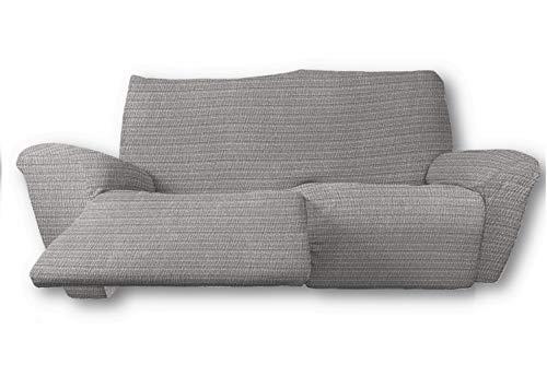 FRESH HOME HOME TEXTILES Funda de sofá Elástica Relax Magic (Sofá Relax 3 plazas, Gris Claro)