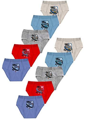 PiriModa 10 STÜCK Jungen Baumwolle Slips Unterhosen (104-110 (4-5Jahre), Modell 9-10 STÜCK)