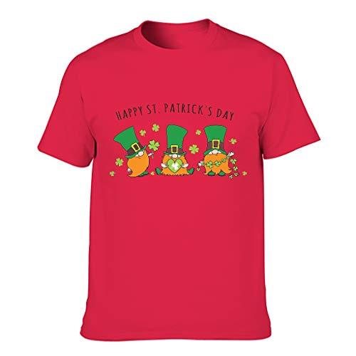 Muerlinanajj 3D Kreativ Herren T-ShirtsKurzarmTee Mit Modischem Print Tee Grafik DruckenT-Stücke red1 l
