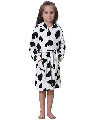 Abollria Albornoz Suave para Niños Unicornio Ropa De Dormir Unisex Clásico Albornoz niña Ducha con Capucha Bebe Kimono Loungewear Bata