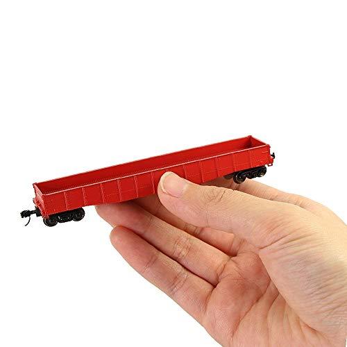 YLHXYPP Duradero 1pc/2pcs/3pcs n Escala 53ft Gondola de bajo Costo Red 1:160 Vagones Abiertos Modelo de ferrocarril Contenedor de Transporte Carrete Care C15014R Ingeniería plástico (Color : 2pcs)