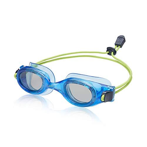 Speedo Unisex-child Swim Goggles Hydrospex Bungee Junior Ages 6-14 , Peacoat/Smoke