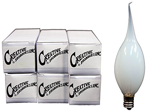 Creative Hobbies Country Style Silicone Dipped Candle Light Bulbs, 15 Watt -Pack of 6 Bulbs
