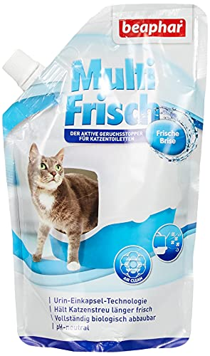 Beaphar Brezza rinfrescante | Neutralizzatore di odori per Gatti | Prolunga la Durata della lettiera per Gatti | Profumo di brezza Fresca | 400 g