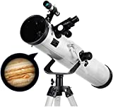Telescopio de reflexión de Calibre 125 mM, telescopios para astronomía, telescopio con trípode Ajustable y buscador de 5x24, astronomía, para Principiantes, Adultos
