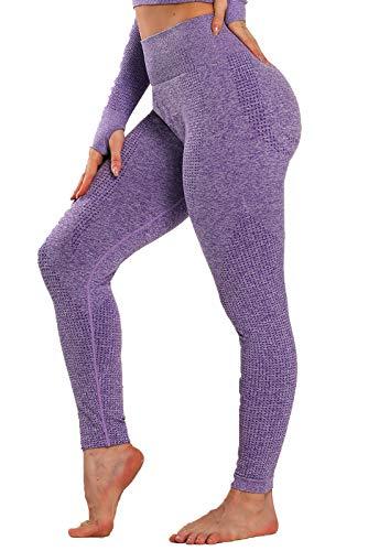 FITTOO Leggings Sin Costuras Mallas Mujer Pantalon Deportivo Alta Cintura Yoga Elásticos Conjunto Top