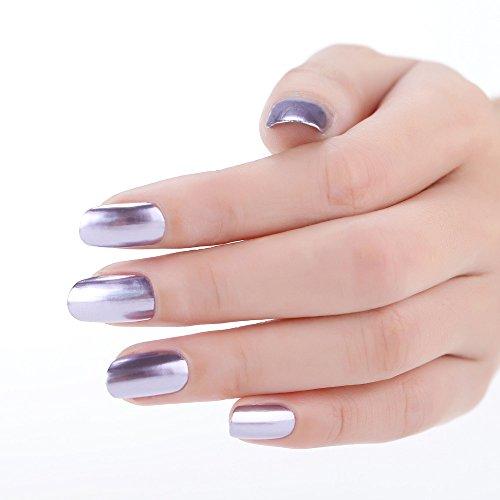 DressLksnf Esmalte de Uñas Moda para Mujer Esmalte de Espejo Color Puro Esmalte Endurecedor para Uñas Estilo Simple