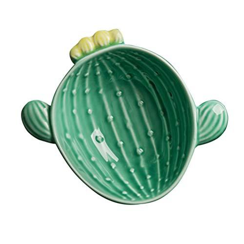UPKOCH Ciotola da Portata in Ceramica per Cactus per Insalata di Riso con Cereali Gelato E Yogurt (Verde)